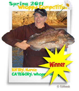 2011 Spring Whoppa Snapper - Harvie 1st equal