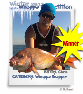 2011 Winter Whoppa Snapper - Chris